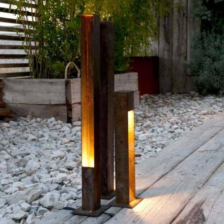 Refletor Artisan Outdoor em Acabamento Iron Corten Made in Italy - Sparta