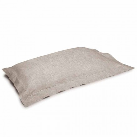Fronha em Pure Linen Natural Color Made in Italy - Poppy
