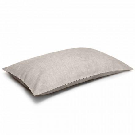 Fronha de cama de linho natural puro fabricada em Itália - Blessy
