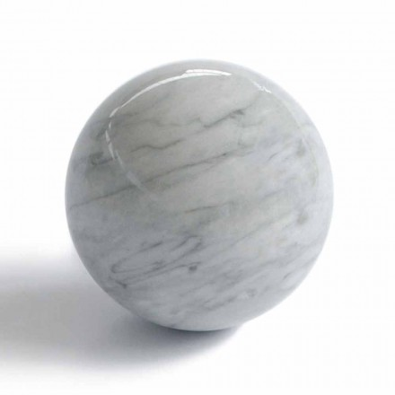 Peso de papel moderno em bola em mármore Bardiglio Gray fabricado na Itália - esfera