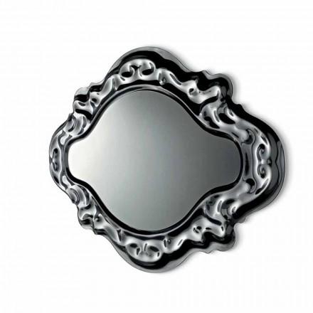 Espelho de parede de design moderno Fiam Veblèn Novo Barroco feito na Itália
