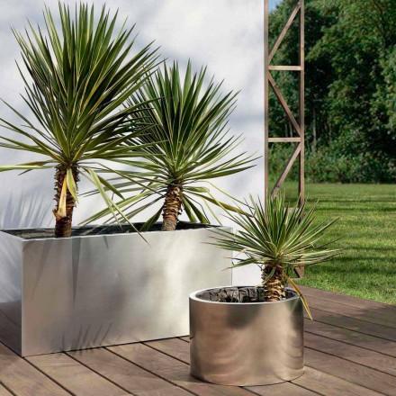 Plantador de jardim de design redondo ou retangular em aço feito na Itália - Filadélfia