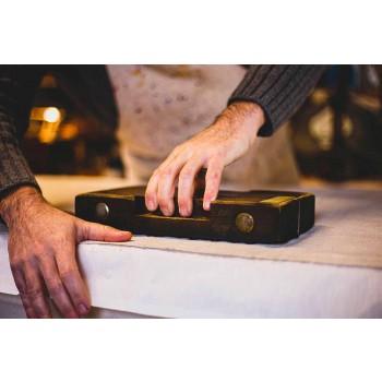 Avental artesanal Peça única com estampa artesanal em algodão - Marcas