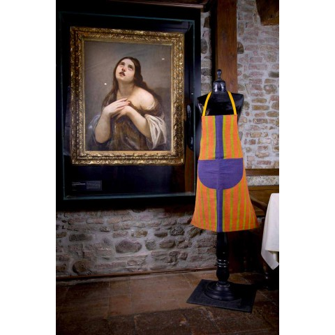 Avental de arte em tela Peça única de artesanato italiano - Marcas