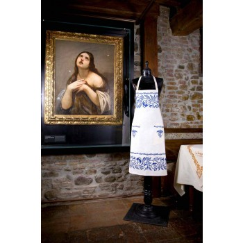 Avental de linho artesanal italiano de uma peça - Marcas
