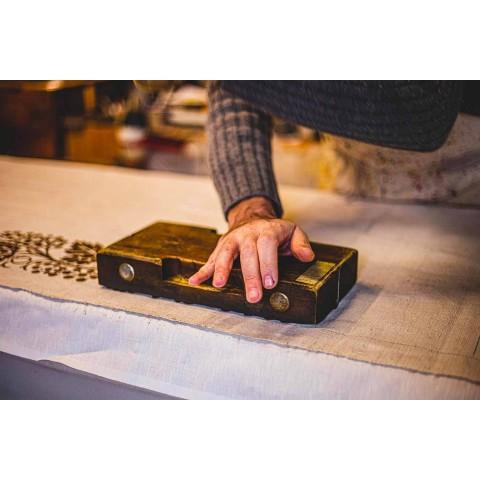 Avental Italiano Artesanal em Algodão com Impressão Manual - Marcas