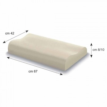Almofada Double Wave em Memory Foam de 10 cm de altura Fabricado em Itália - Nimes