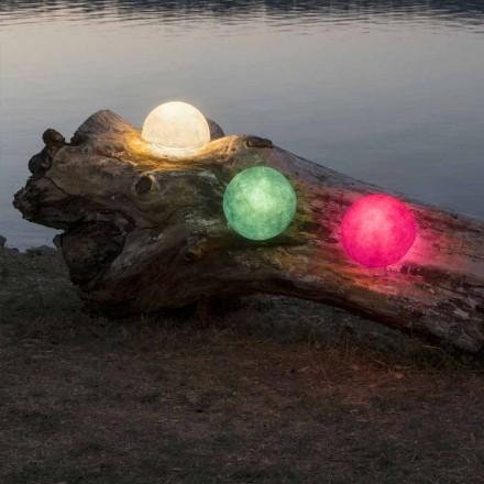 Luminária de parede para exterior In-es.artdesign Button Out em nebulite colorida