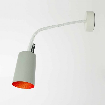 Luminária de parede Designer In-es.artdesign Tinta em cimento pintado