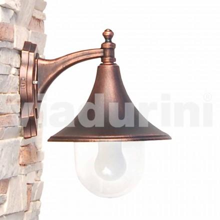 Aplique para exterior, fabricado em alumínio fundido, fabricado em Itália, Anusca