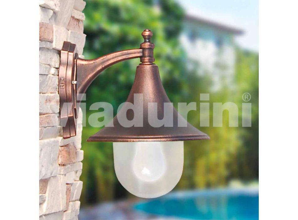 Luminária de parede para exterior em alumínio fundido feito na Itália, Anusca