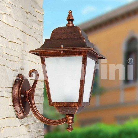 Luminária de parede para exterior de alumínio, produzida na Itália, Aquilina