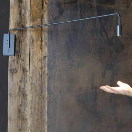 Candeeiro de parede exterior em ferro com LED ajustável Made in Italy - Forla