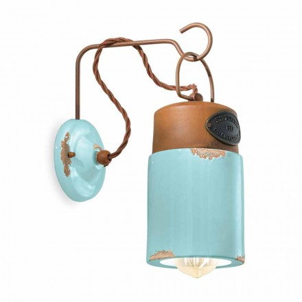 Luminária de parede em ferro de cerâmica e ferrugem Desiree by Ferroluce