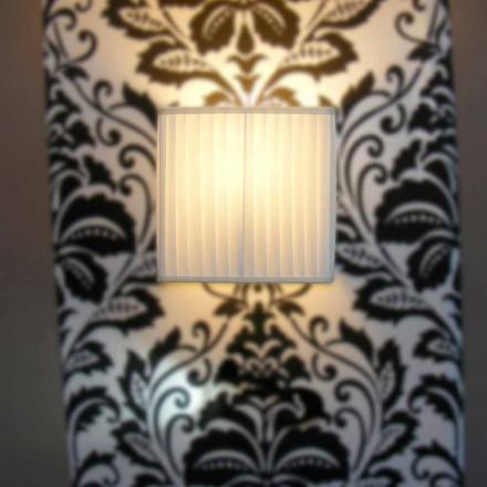 Luminária de parede de seda marfim design moderno Bamboo