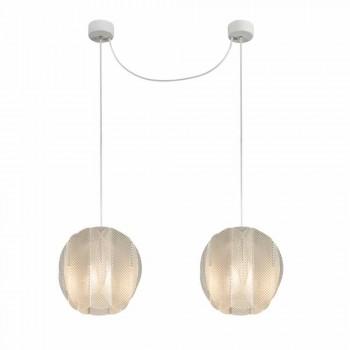 Lâmpada pingente 2 luzes metacrilato, diâmetro 22cm, Desejo
