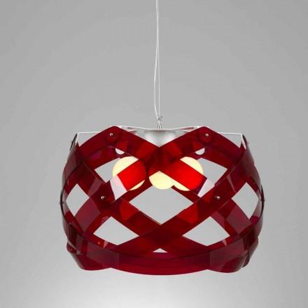 Lâmpada pingente de metacrilato de 3 lâmpadas de design moderno Vanna, 67 cm diam.