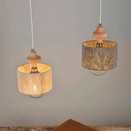 Moderna luminária de 2 lâmpadas com elemento de madeira Bois