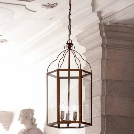Luminária pendente de três luzes contemporânea Turandot