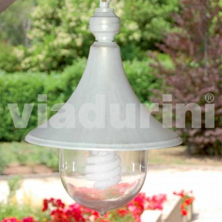 Luminária pendente para exterior feita em alumínio branco, fabricada em Itália, Anusca