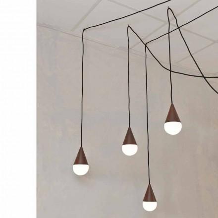 Modern 4-luz corten luminária pendente Drop
