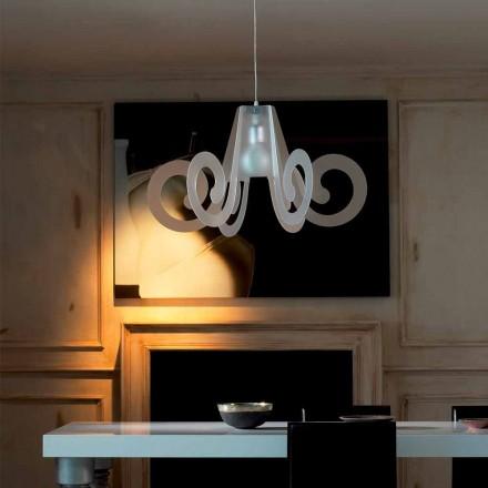 Lâmpada pingente de design moderno Rania, feita de metacrilato, 75 cm de diâmetro.