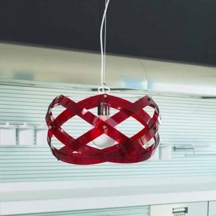 Design moderno luminária Vanna feita de metacrilato, diam. 53 cm