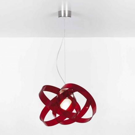 Candeeiro suspenso de design moderno Ferdi, diam 56 cm, feito de metacrilato