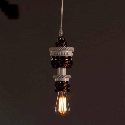Lâmpada suspensa de design em cerâmica 3 acabamentos feitos na Itália - futurismo