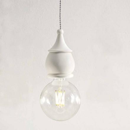 Lâmpada de suspensão de cerâmica chique gasto - destino de Aldo Bernardi