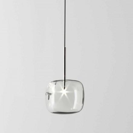 Candeeiro de Suspensão Design em Metal e Vidro Made in Italy - Donatina