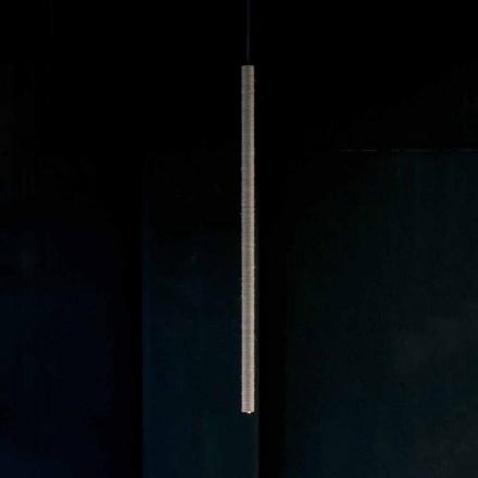 Candeeiro de Suspensão em Alumínio Coberto por Corda Made in Italy - Ginia