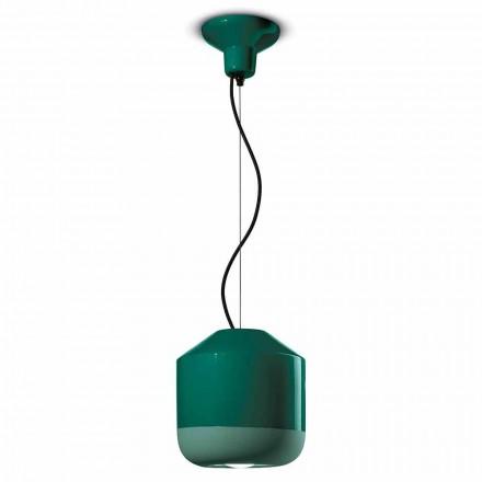 Lâmpada de suspensão em cerâmica colorida Made in Italy - Ferroluce Bellota