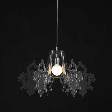 Luminária pendente de metacrilato design moderno Alessia, diam. 70 cm