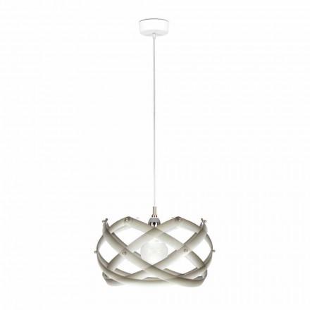 Luminária pendente Vanna, feita de metacrilato com decorações, 40 cm diam.