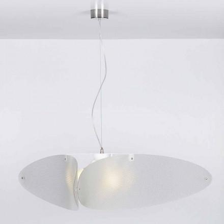 Moderna luminária Taire, feita de metacrilato, 116 cm de diâmetro.