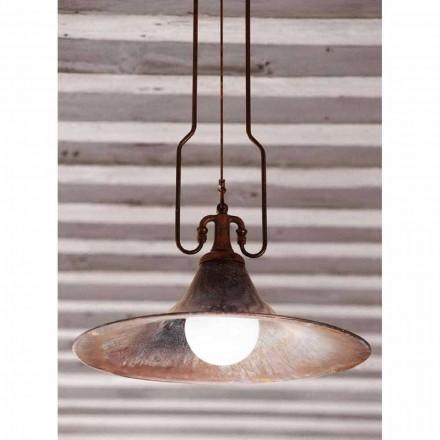 Luz moderna pendente feita de latão e cobre Mulino