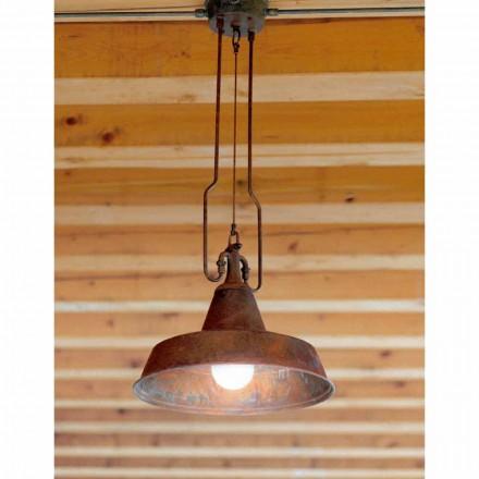 Luz pendente contemporânea em cobre e latão Fonderia