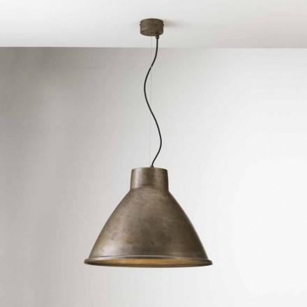 Pendente de ferro com design industrial Loft Big Il Fanale