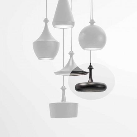 Lâmpada de suspensão LED fabricada na Itália em cerâmica - L4 lantejoulas Aldo Bernardi
