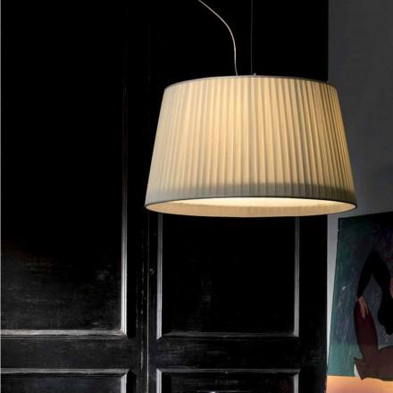 Luminária pendente de seda marfim design moderno Bamboo