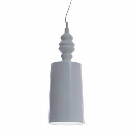 Abajur de Suspensão em Design de Cerâmica Branco Brilhante - Cadabra