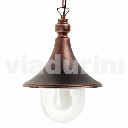 Luminária pendente para exterior feita em alumínio, fabricada em Itália, Anusca
