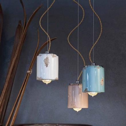Luz de pingente artesanal de design vintage feita na Itália por Ferroluce