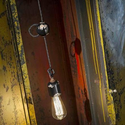 Luz pingente de design vintage feita de cerâmica por Ferroluce
