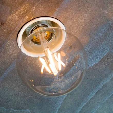 Lâmpada embutida artesanal em alumínio branco feito na Itália - Frana