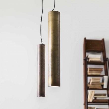 Luz pingente cilíndrica Girasoli Ø8 Il Fanale, fabricada na Itália