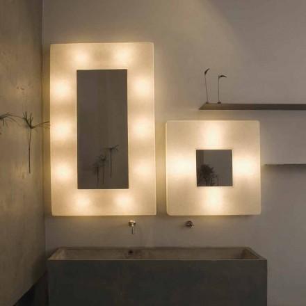Luminária de parede design com espelho In-es.artdesign Ego in nebulite