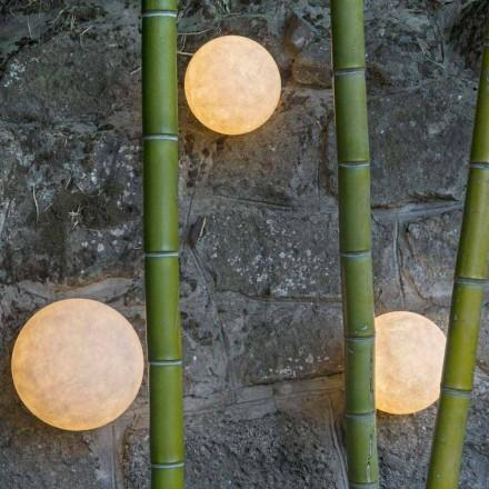 Luminária de parede embutida In-es.artdesign A. Moon Out em nebulite