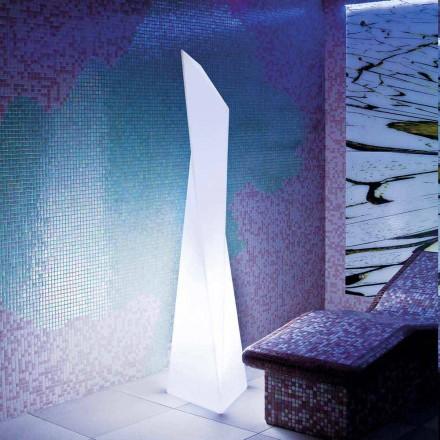Lâmpada exterior branca em forma de prisma Slide Manhattan, fabricada em Itália